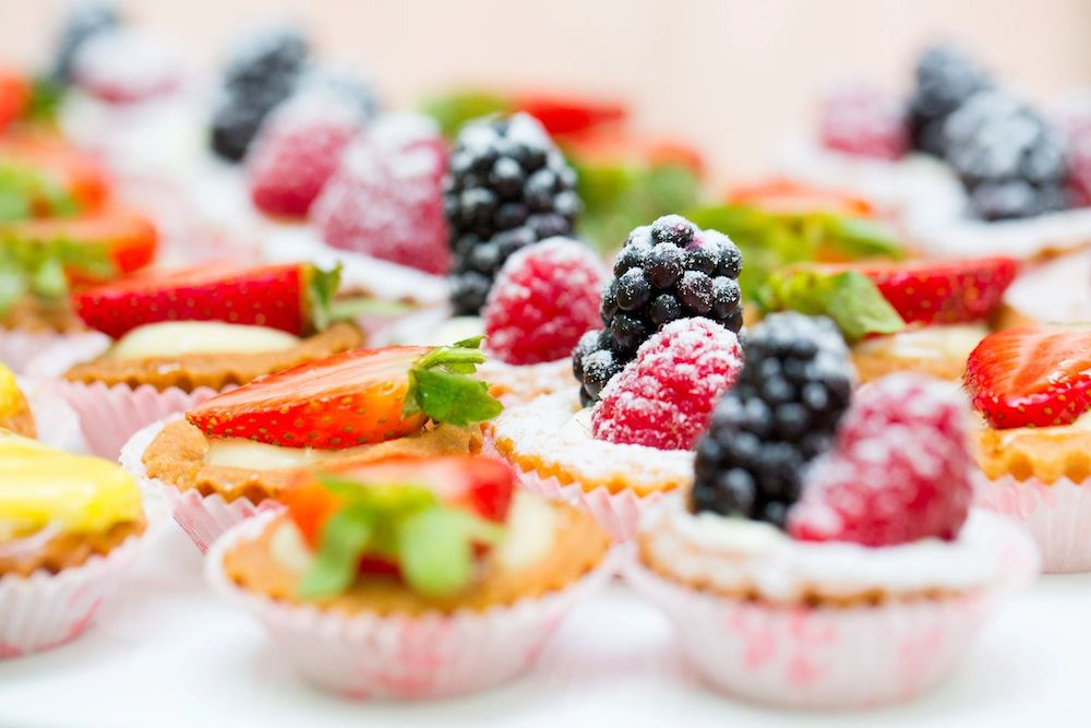 Fruit Tarts by The Villa by Villa Park Catering