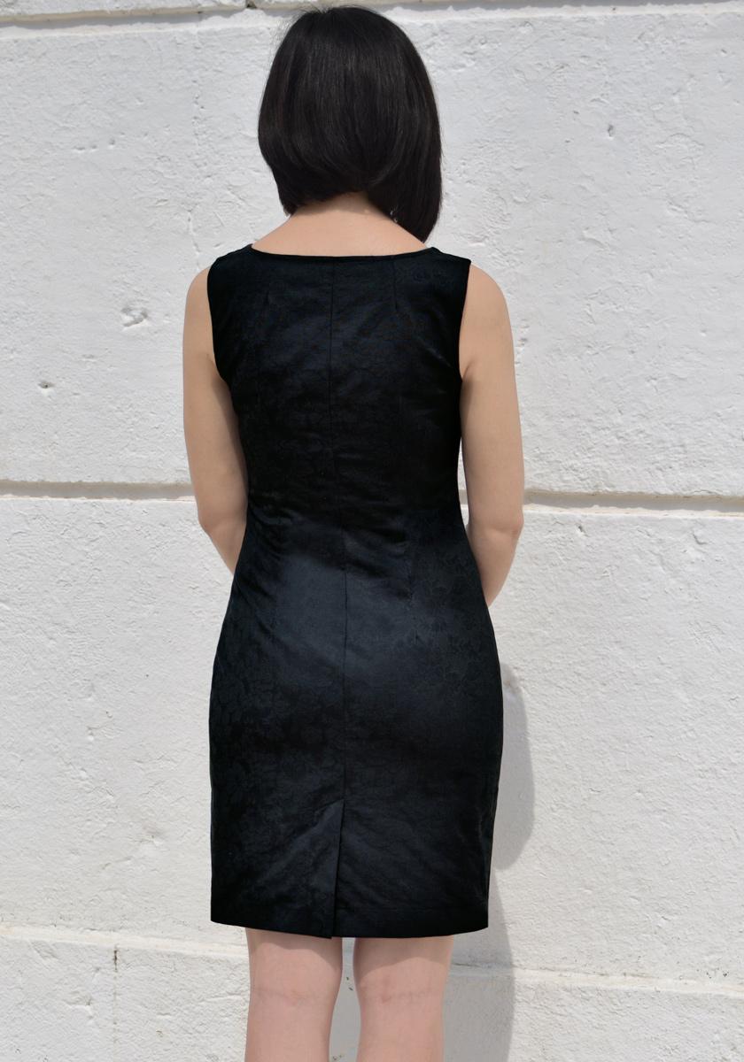 BLACK SWEETHEART NECKLINE BODYCON DRESS