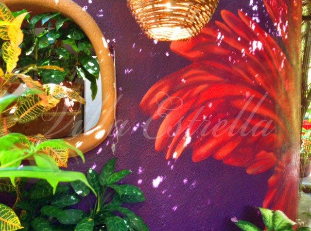 hibiscus mural villa estrella
