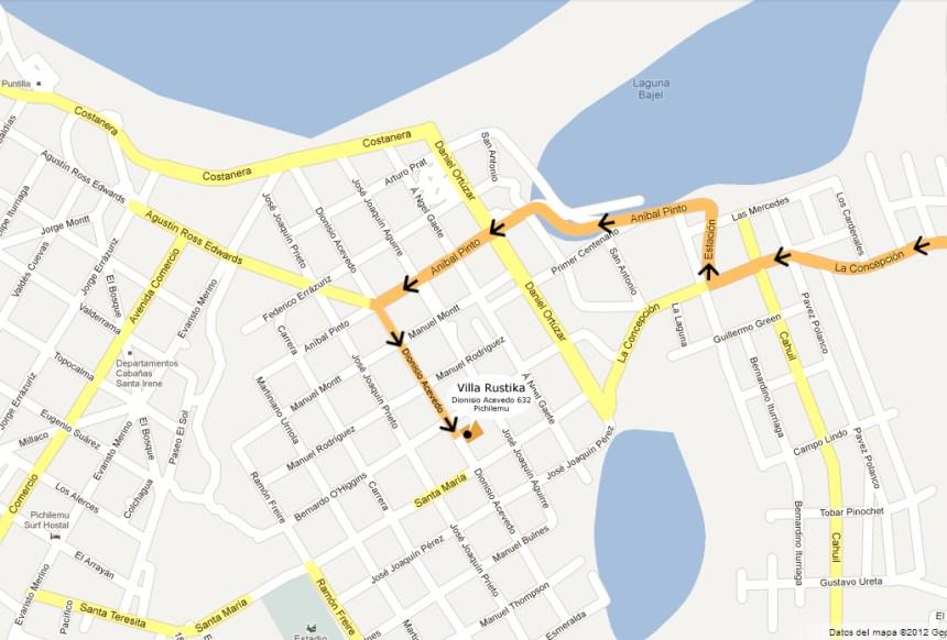 Mapa Villa Rustika