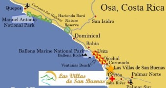 Osa Costa Rica map