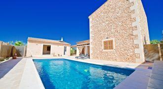 Preciosa casa de campo en alquiler con piscina en Campos