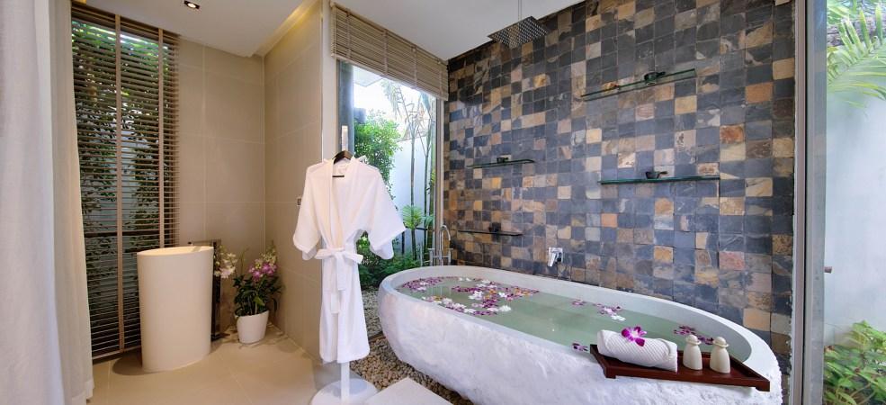 Luxury spa bath area