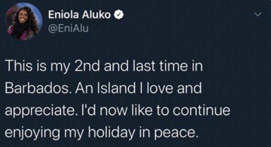 Eni Aluko Barbados