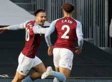 Jack Grealish Matty Cash Fulham Aston Villa