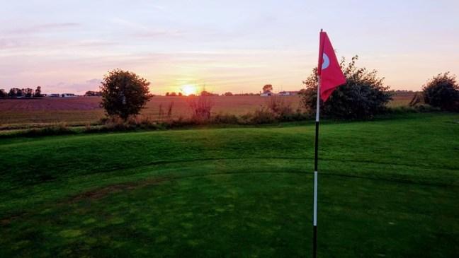 Solnedgång över Bedinge Golfbana