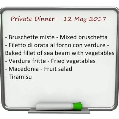Villa Valentini- private dinner