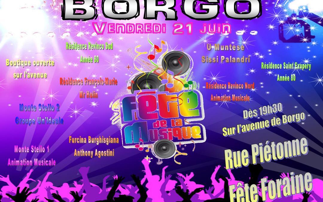 Fête de la musique à Borgo : le programme du 21 Juin