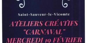 Ateliers créatifs – Carnaval