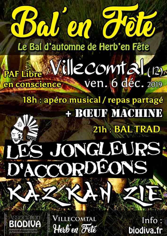 Bal'en Fête – vendredi 6 décembre à Villecomtal