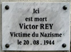 plaque victor rey