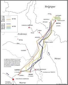 parcours vers la frontière belge