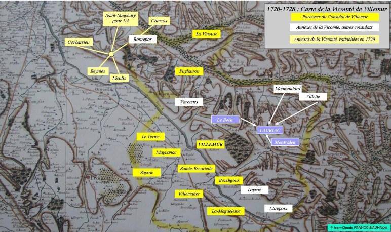 carte vicomte villemur
