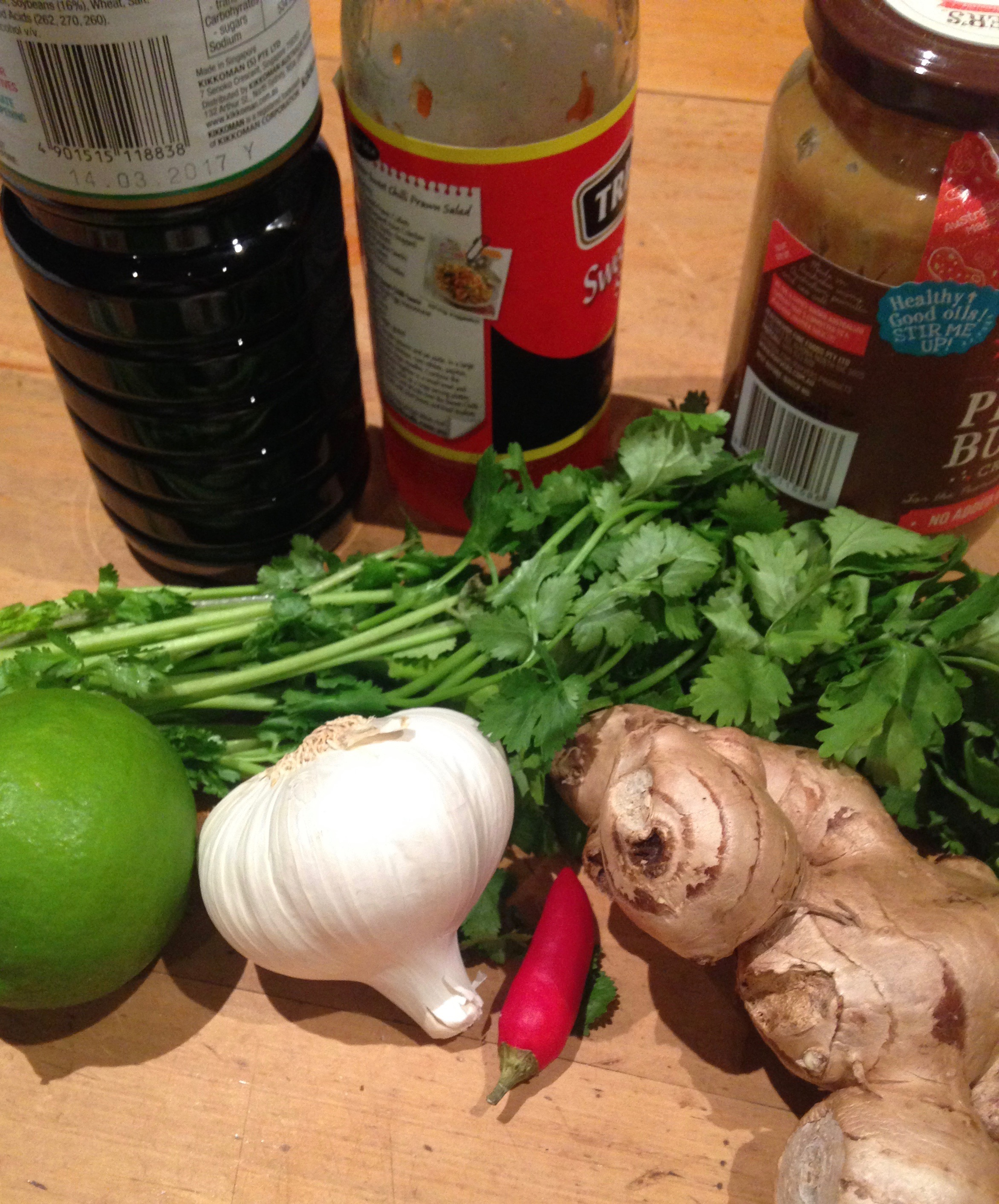 ingredients for noodle salad