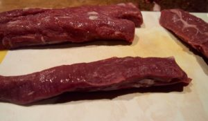 trimmed lamb fillets