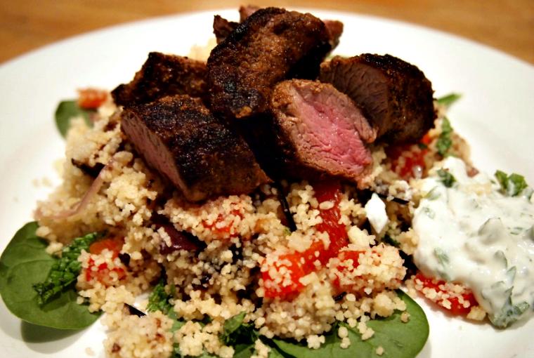 lamb with couscous salad