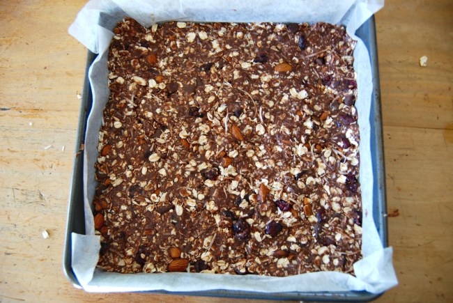 peanut butter oat energy squares