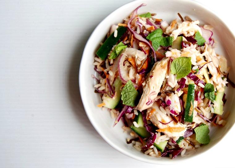 wild rice and chicken salad