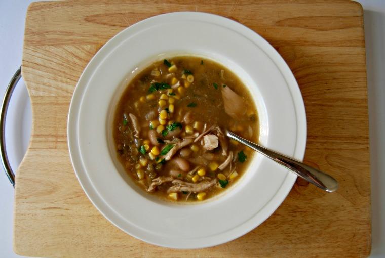 white bean chicken chilli soup
