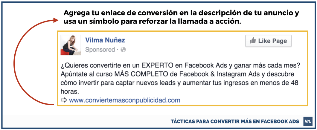 enlace en descripcion tacticas cambiar facebook ads