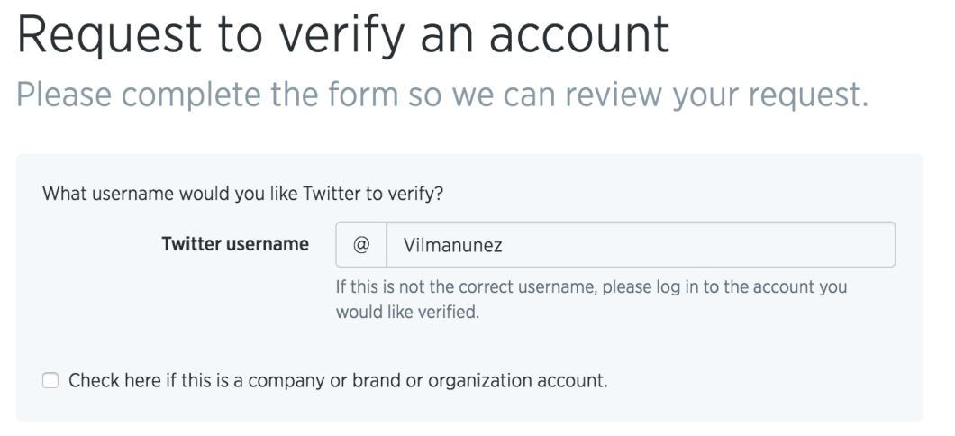verificar cuenta twitter