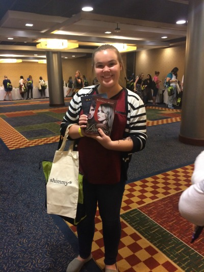 A happy teen with her Teen Day Bag!