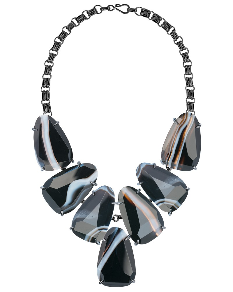 harlow-necklace-gunmetal-blackbanded-agate