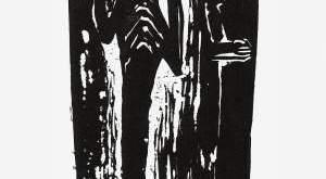 V. Kisarauskas. Iš serijos Lietuvių dievai. Pikolis. 1958, linoraižinys 24,3x14