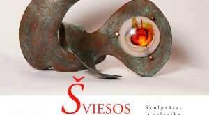 """Tito Livio Negri ir Gabrielos Quercia skulptūros, juvelyrikos ir meninio stiklo paroda """"ŠVIESOS BRANGAKMENIAI""""."""