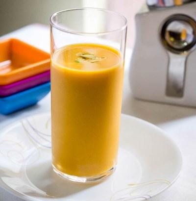 mango milkshake recipe, easy mango milkshake