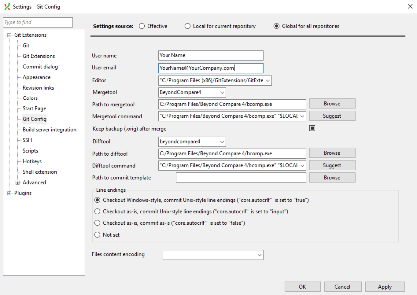 Configure User Name and email