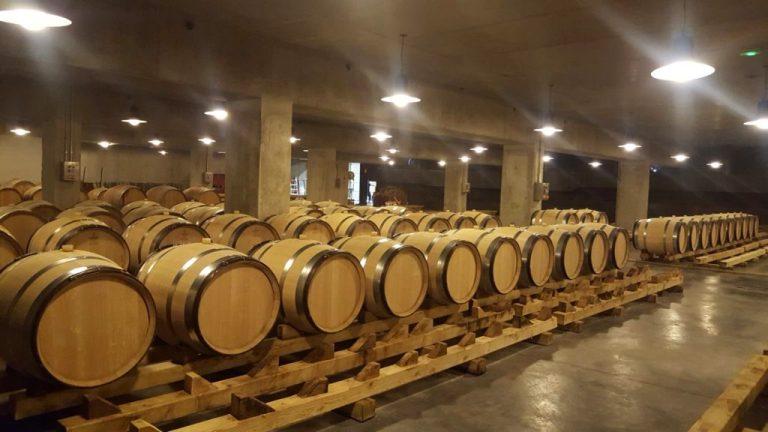 Chai à barriques- centre de vinification - hameau Georges Dubœuf