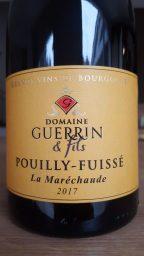 Etiquette de Pouilly Fuissé La Maréchaude  Domaine Guerrin