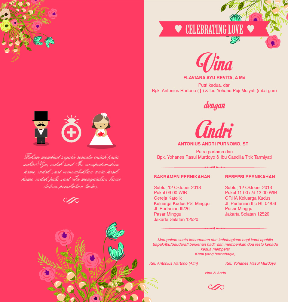 Undangan Pernikahan Vina Andri Vina Dan Andri