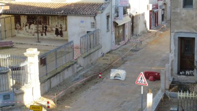 rue en chantier vinassan