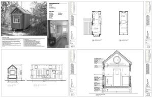 Vinas Tiny House Ojai - 4up Plans