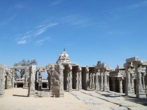 The temple square atop