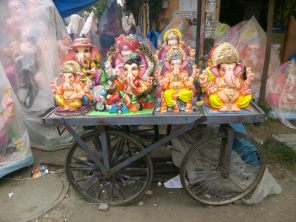 Bal Ganesh on Cart