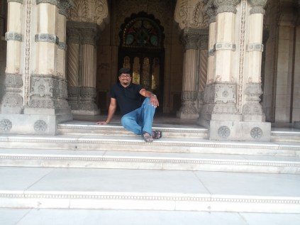 I took a seat aside the Darbar