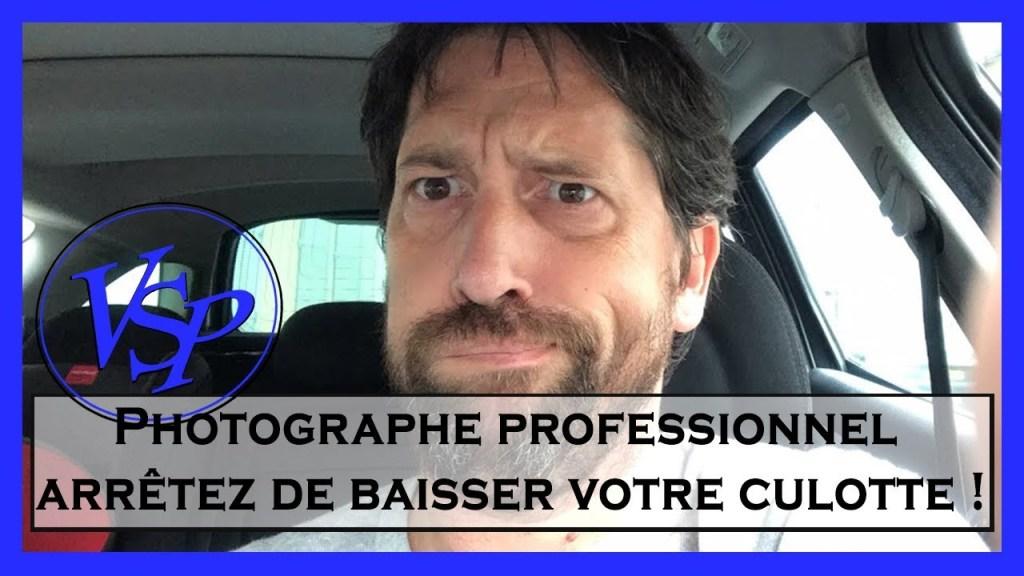 Photographe professionnel stop