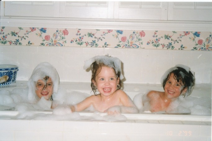 My three girls -- about a year before my divorce.