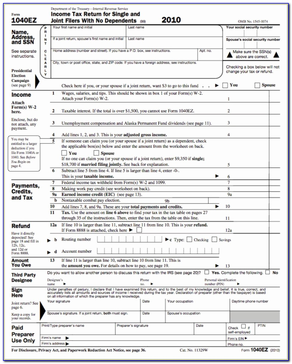 2014 Federal Tax Forms 1040ez Printable Beautiful 1040ez Form 2015 The 7 Secrets That You Shouldn T Know