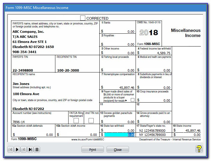 1099 Misc Form 2016 Printable