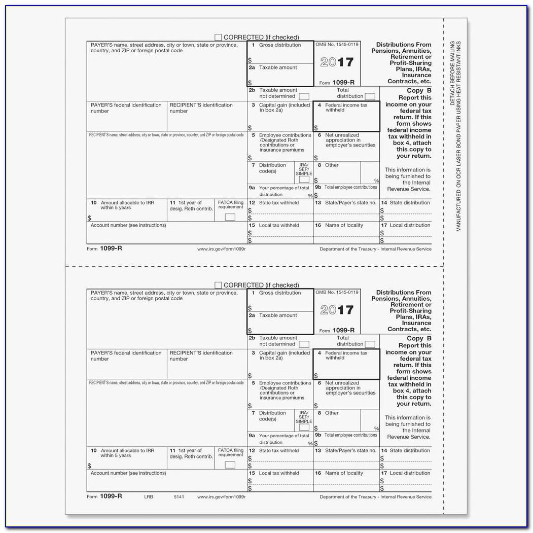 1099 Misc Template For Preprinted Forms 2018