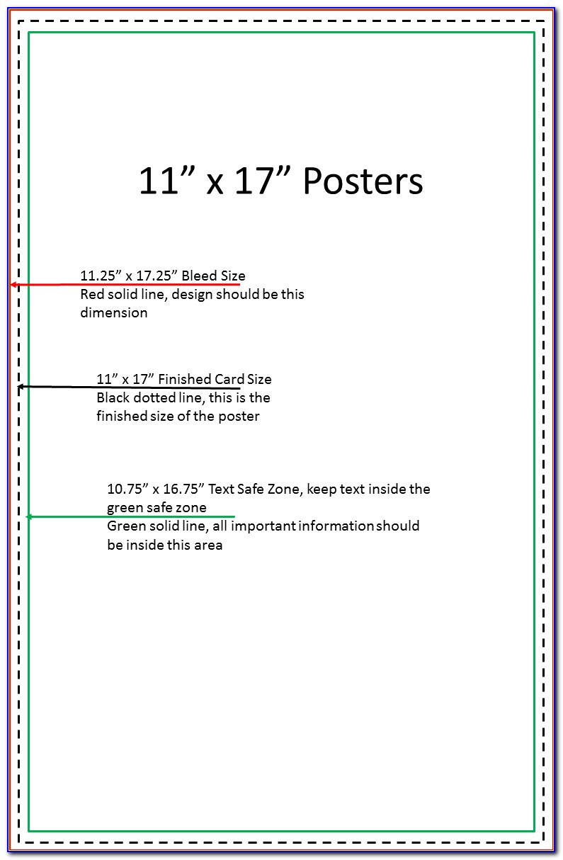 11×17 Poster Template Photoshop