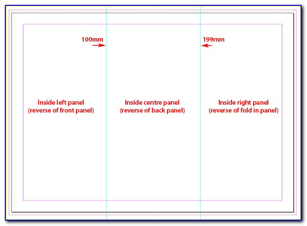11×17 Trifold Template Indesign