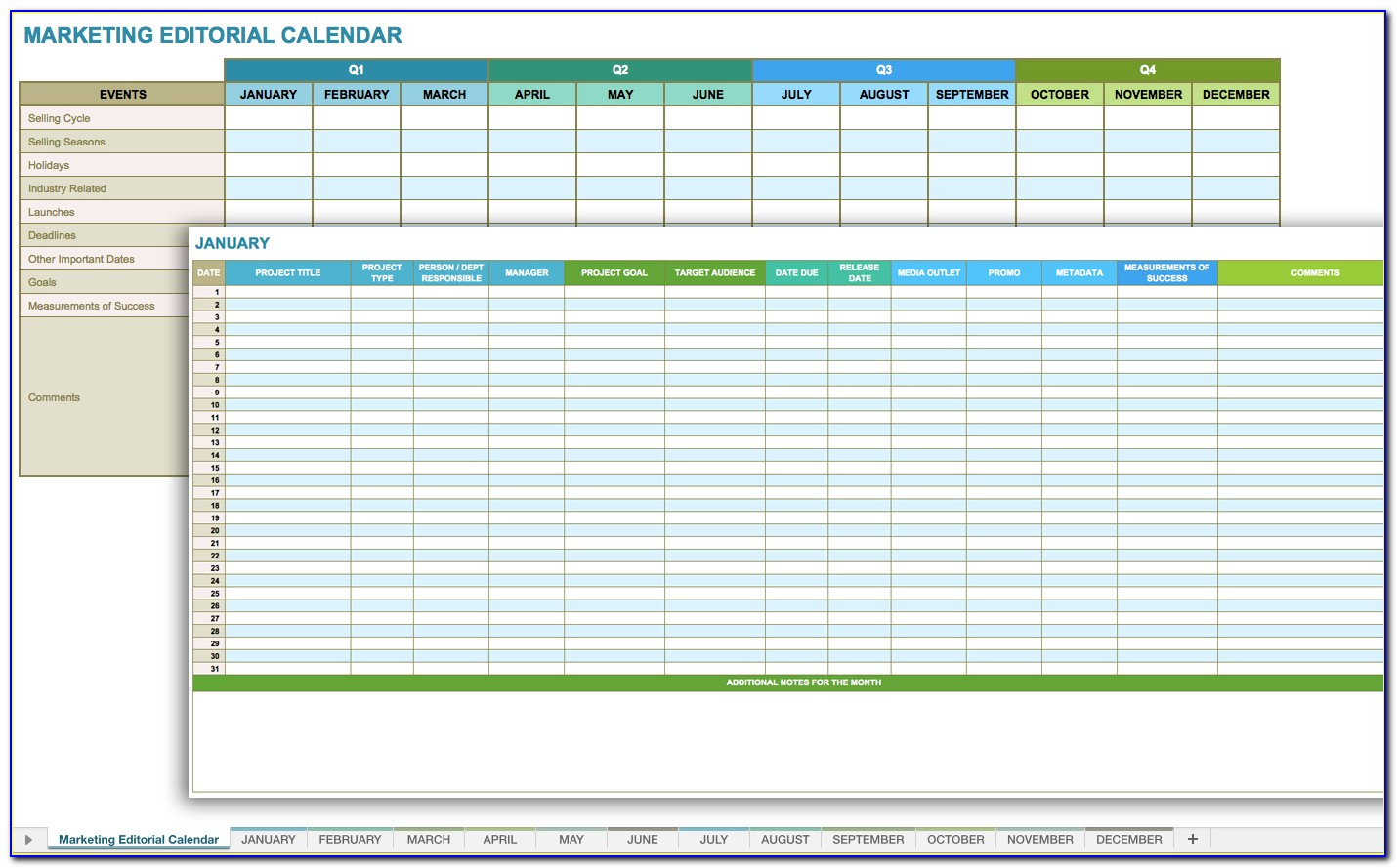 12 Free Social Media Templates Smartsheet With Monthly Balance Sheet Template Excel