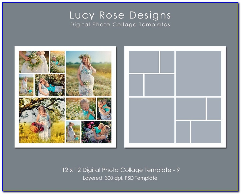 12 X 12 Photo Collage Template