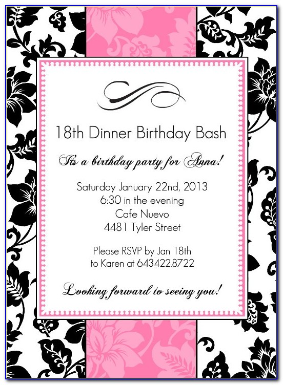 18th Birthday Invitation Template 109