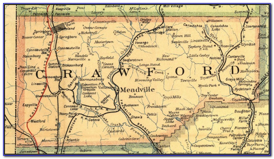 1865 Map Of Crawford County Pa